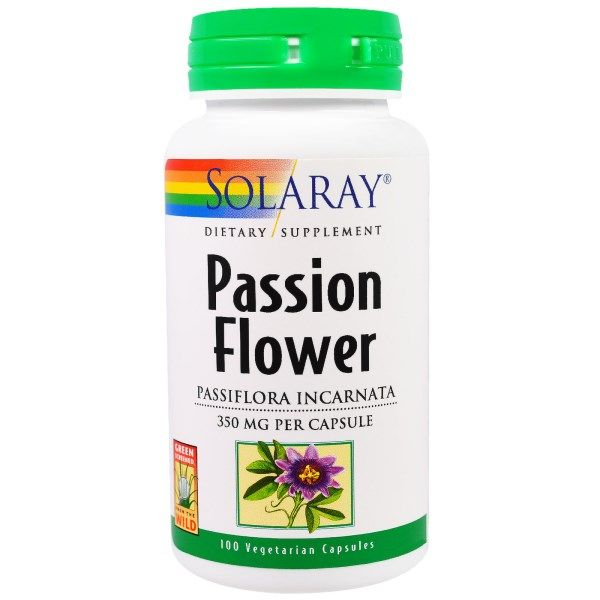 Solaray Passion Flower 350 Mg 100 Vegetarian Capsules Passion Flower Passion Flower Tea Health