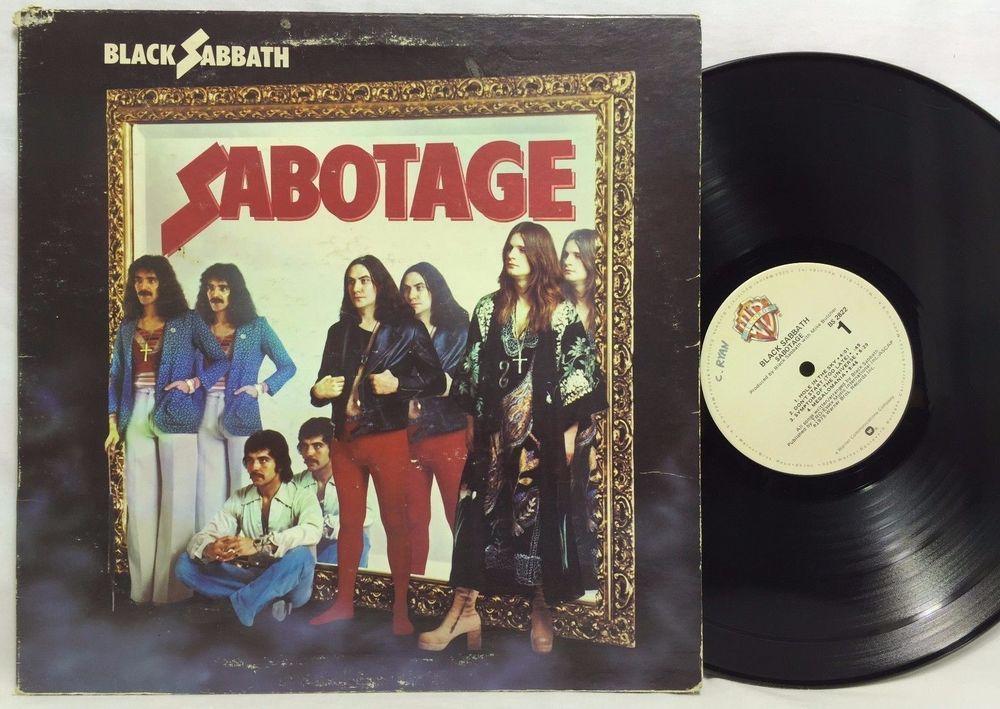 Black Sabbath Sabotage Bs 2822 Lp Vinyl Record Warner Bros Black Sabbath Vinyl Records Vinyl Music