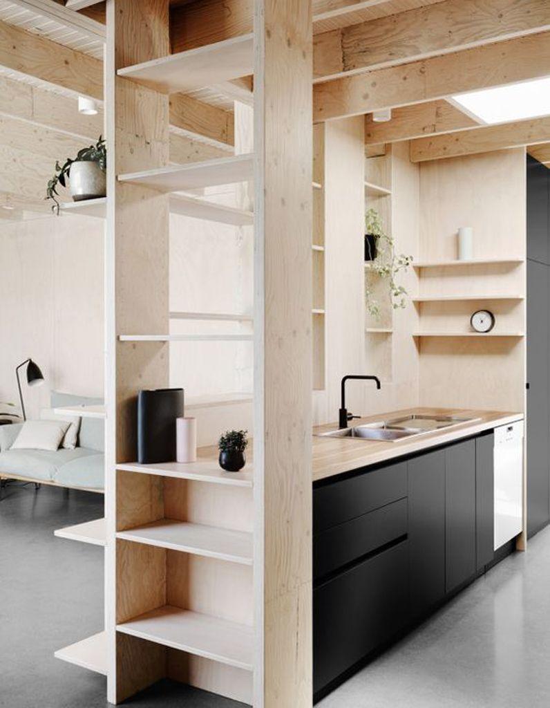 Une cuisine en bois d'architecte - La preuve que les cuisines en bois sont contemporaines ! - Elle Décoration