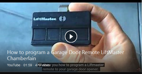 Step By Step Programming Directions 1 Press And Release The Learn Button On The Garage Opener Not The Remote A Li Garage Door Remote Liftmaster Bing Video