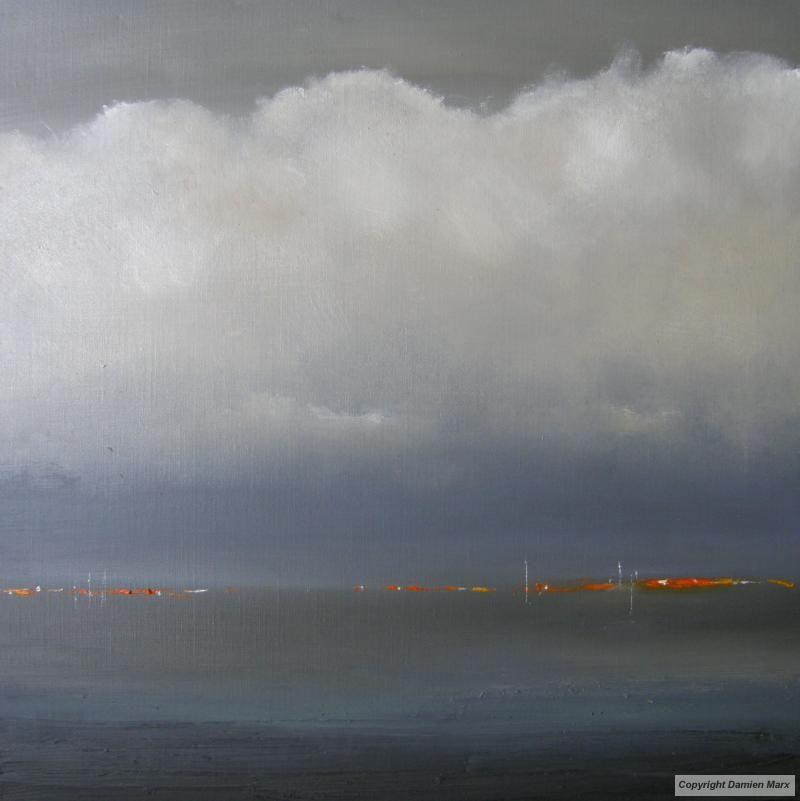 Tableau peinture contemporaine paysage marin abstrait for Peinture contemporaine