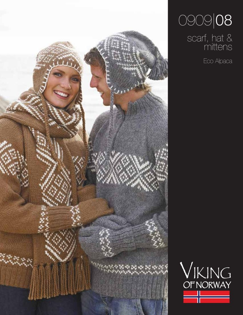 Eco Alpaca Scarf, Hat & Mittens – 0909-08 | Knitting Fever Yarns ...