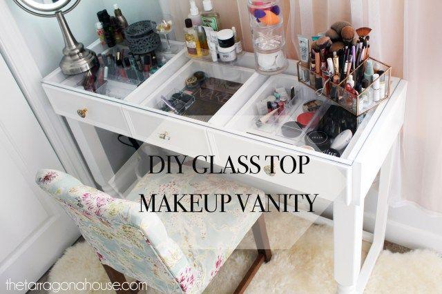 Diy Glass Top Makeup Vanity Diy Pinterest Diy Makeup Vanity