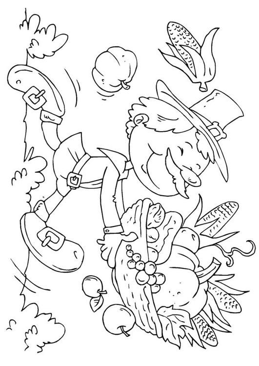 Coloring Book Page Thanksgiving Graphics Pages Sheets Pilgrims ... | 750x531