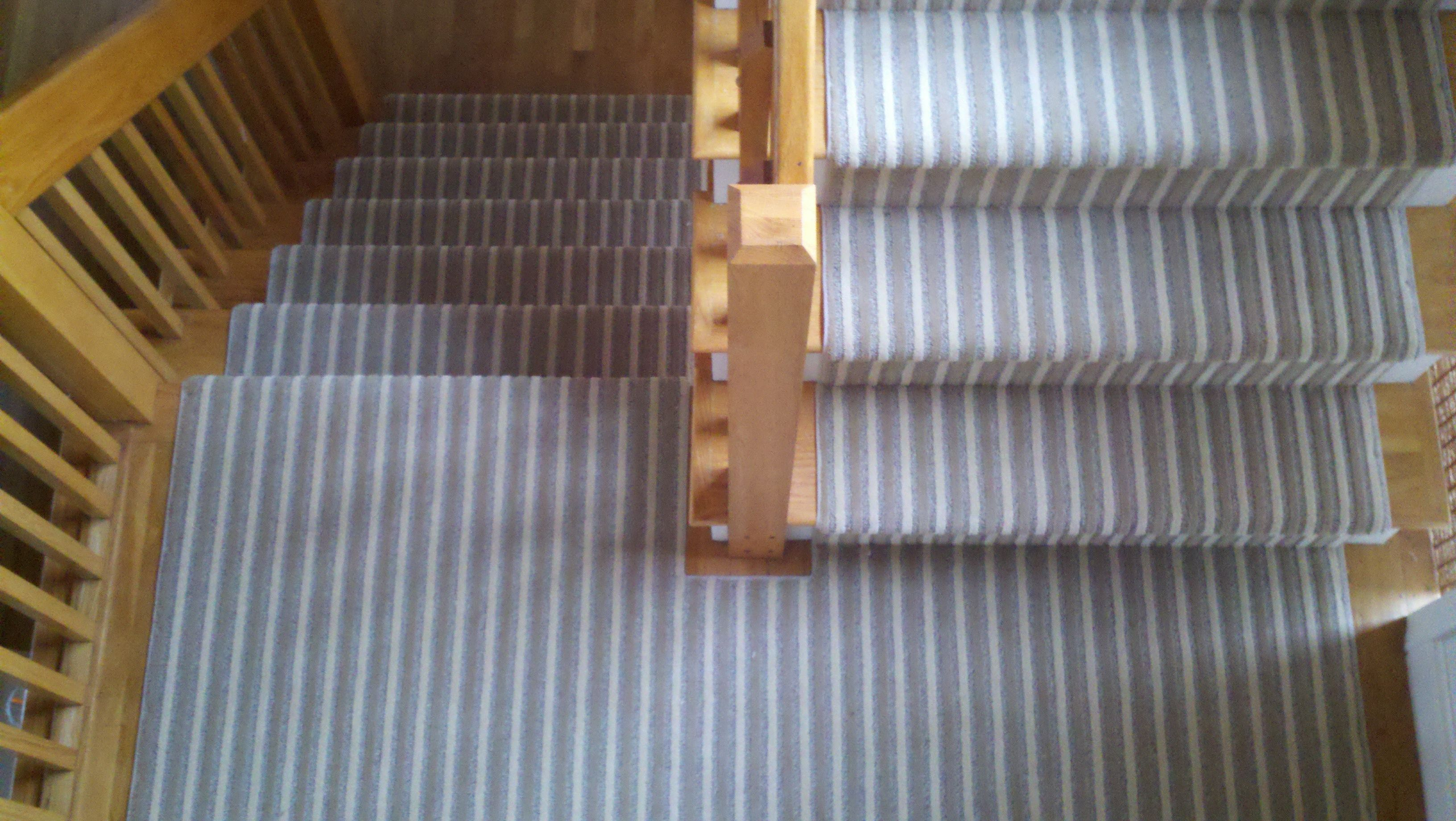 Hallway carpet runners sold by the foot  Stripe Stair Runner  Installation Images  Pinterest