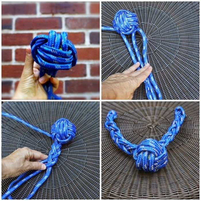 ▷ 1001 + ideas on how to make a dog toy yourself -  dog toy ball, chew toy made of blue rope, homemade toy  - #2015WeddingDresses #Butterflies #CuteDogs #Dog #ideas #Insects #Mammals #Pets #Toy #WeddingDresses #yourself