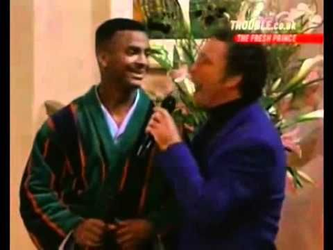 Marvelous Tom Jones and Carlton Alfonso Ribeiro It us not usual song Fresh prince of Bel Air