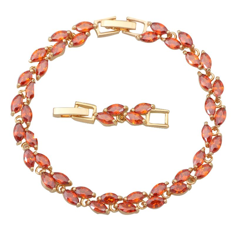 Find More Charm Bracelets Information about Top Quality Amazing Red garnet CZ stones Yellow Gold plated Bracelets & bangles fashion jewelry 20cm 7.87 inch B268,High Quality jewelry victorian,China jewelry by the dozen Suppliers, Cheap jewelry roll pattern free from Dana Jewelry Co., Ltd. on Aliexpress.com