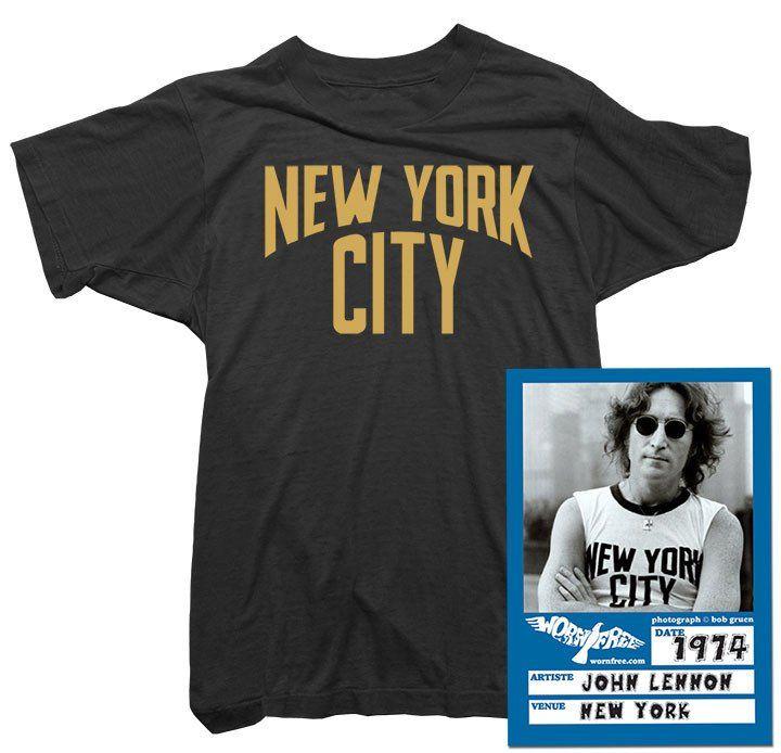 Iconic NYC Lennon Ringer Vintage Women Girly T-Shirt Top Retro New York City