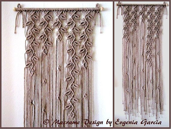 macrame wall hanging sprigs 5 handmade macrame home. Black Bedroom Furniture Sets. Home Design Ideas