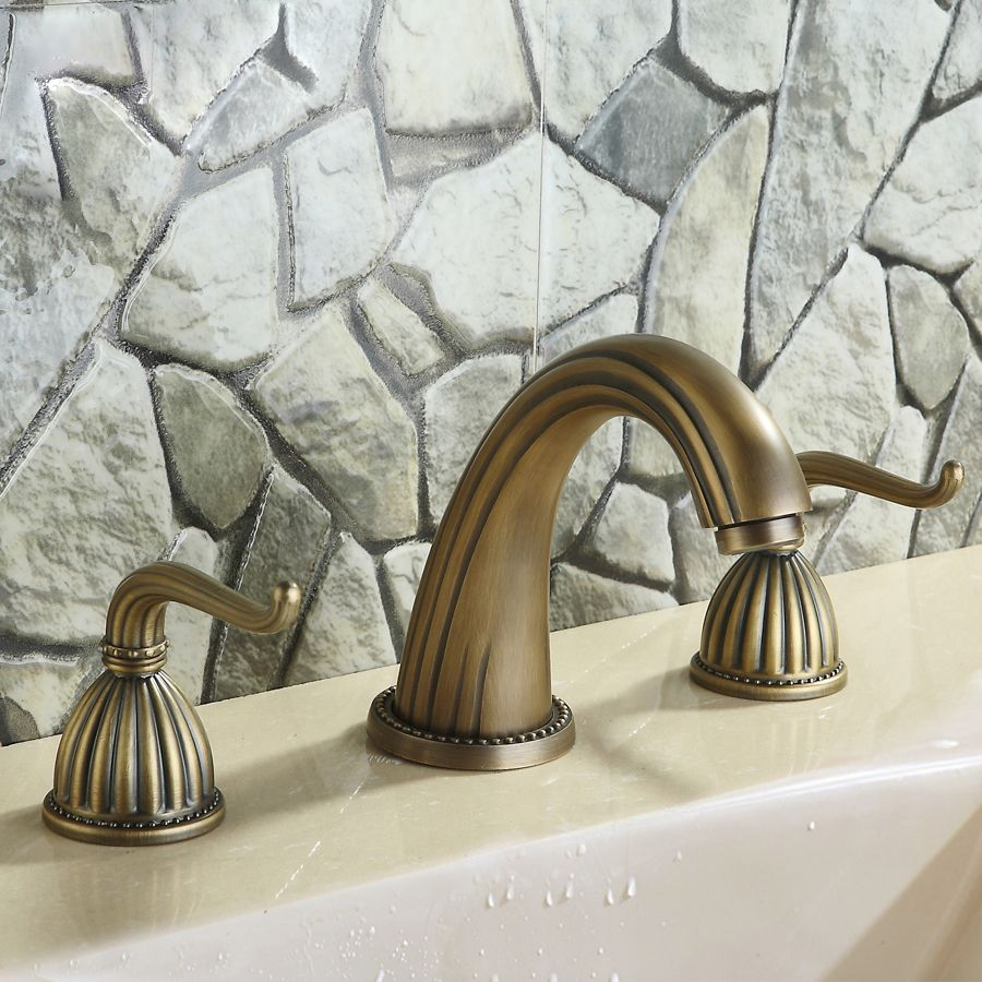 Big Sale torneira Widespread Lavatory Faucet, Brushed Aged Bronze ...