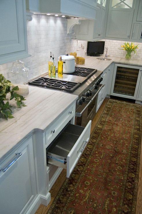Elegant White Kitchen Cabinets: Elegant White Kitchen Design