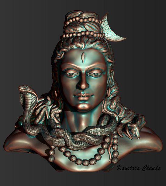Om Nama Shiva 3d Model Artist Kaustava Chanda Shiva Parvati Images God Shiva Shiva Linga