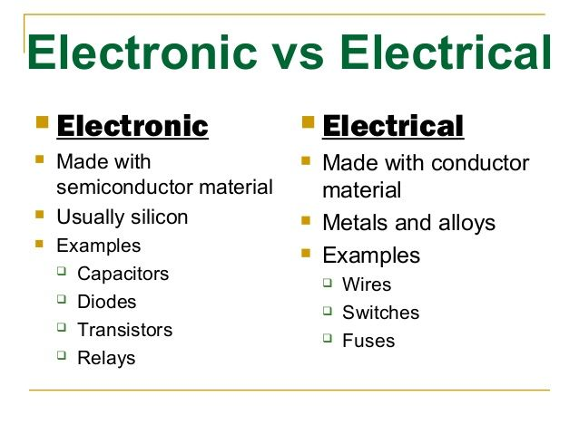 Electronic Vs Electrical Electronic Made With