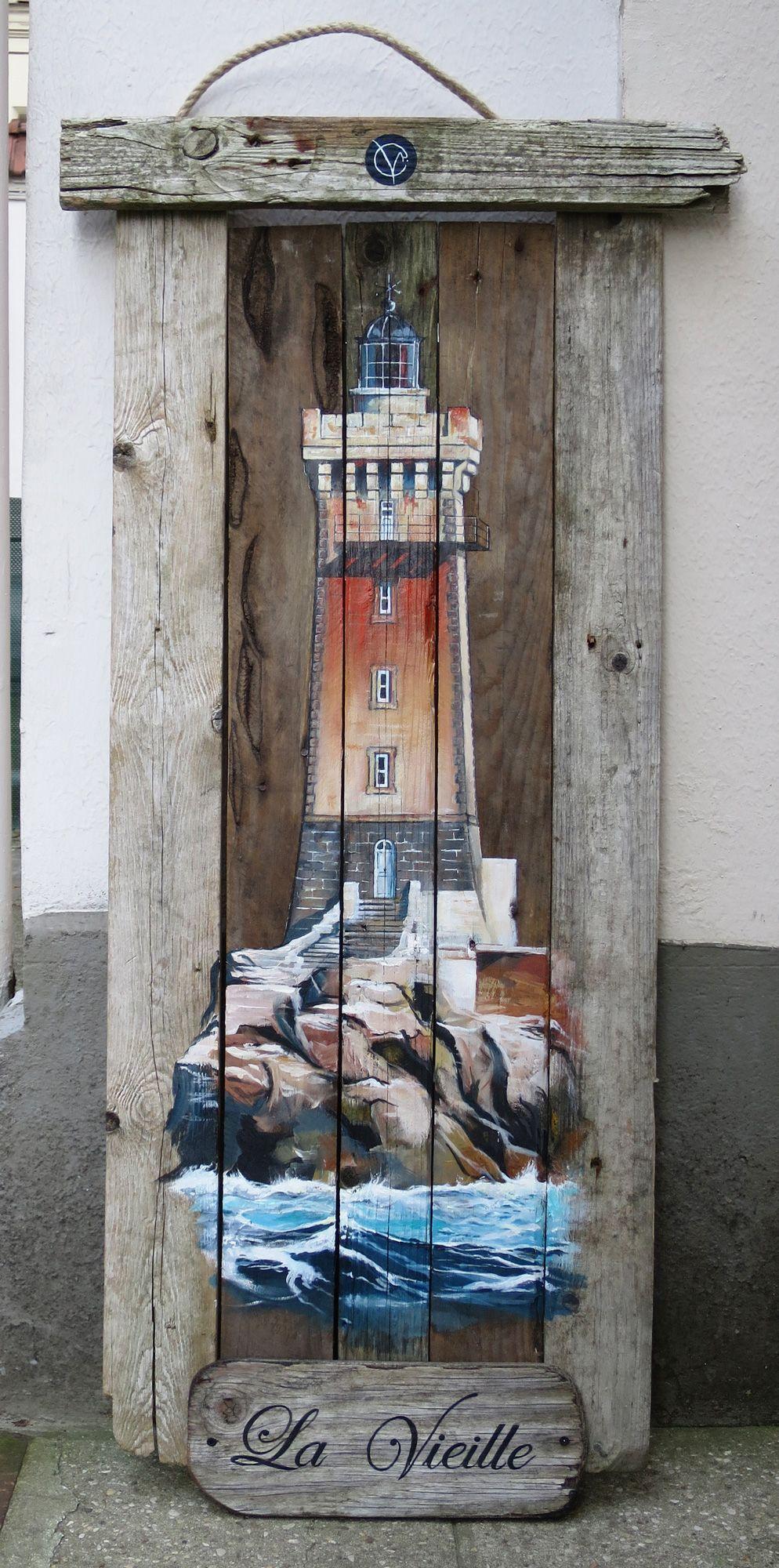phare-la-vieille-finistere-acrylique-bois-bois-flotté-pointe-du-raz-tableau-deco-bretagne-tableau
