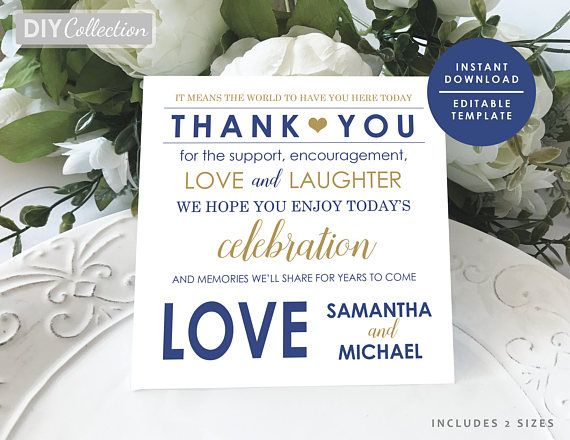 Navy Blue Thank you note, Navy thank you letter template, Navy and