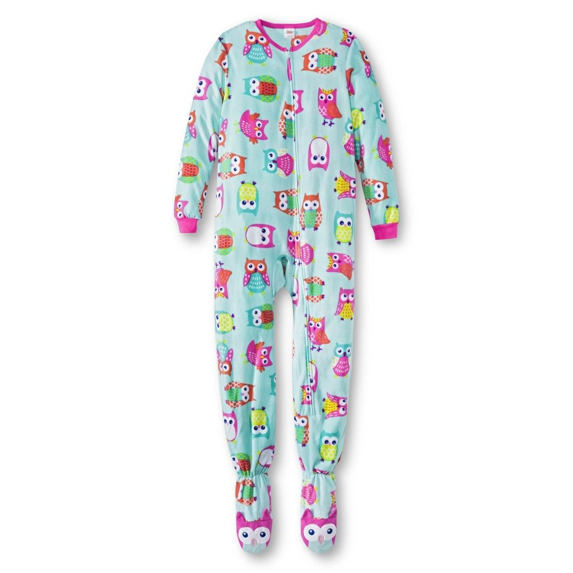 Girls owl print footed sleeper kids outfits size girls