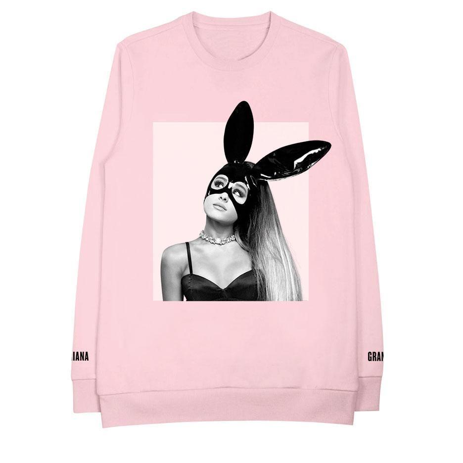 Bunny Ears Pink Crew Neck Sweatshirt | Ariana Grande | Birthday ...