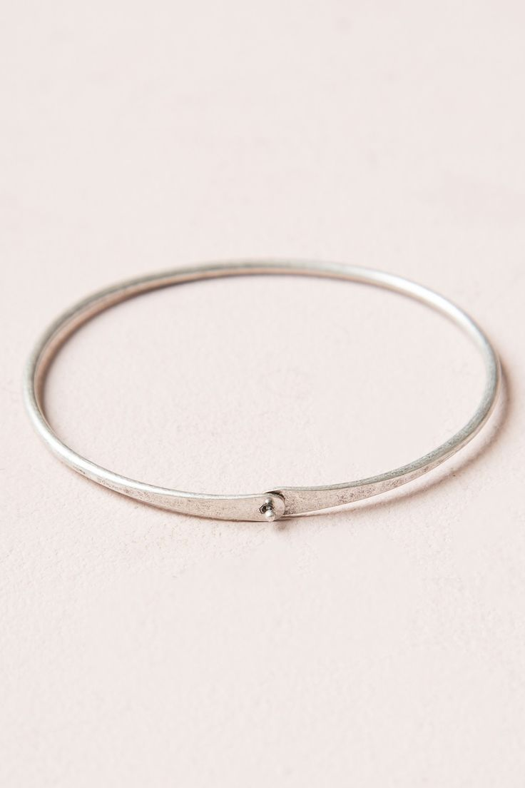 bracelet silver bangles bracelets solid thin sterling bangle pin