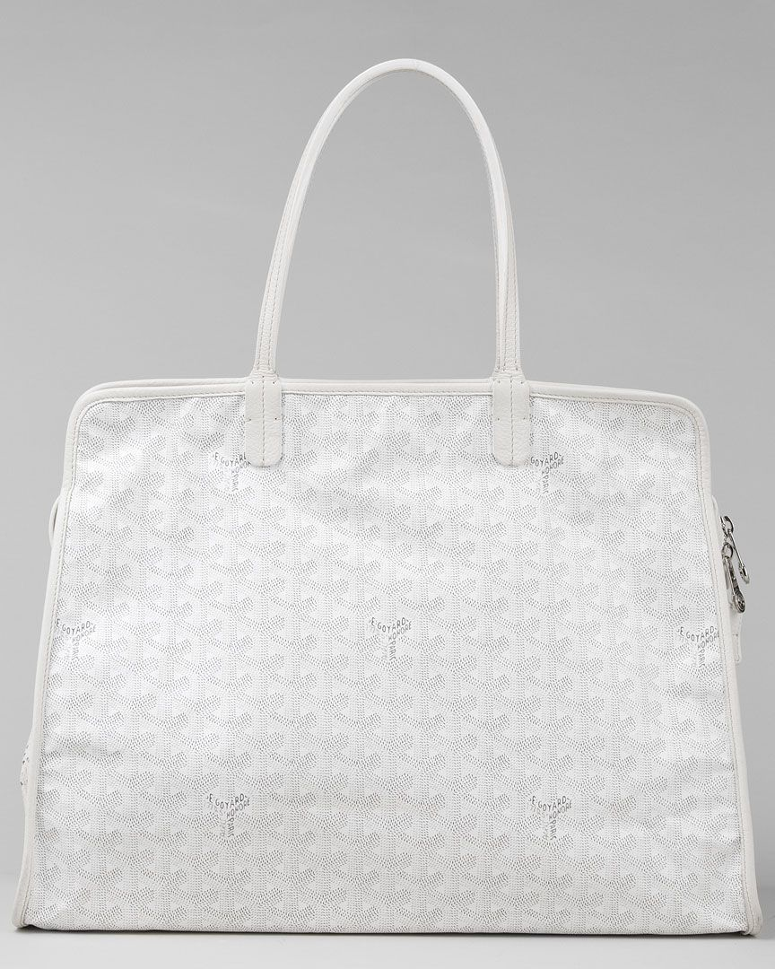 Goyard White Canvas Hardy GM Shoulder Bag | Bags lover ...
