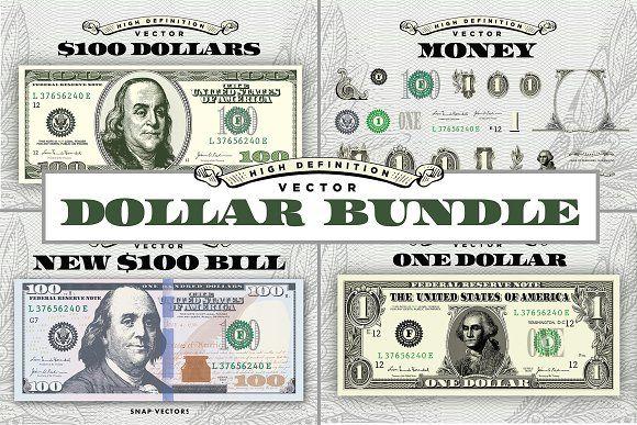 Vector Dollar Bundle Money Logo Business Illustration Business Card Logo
