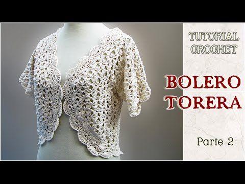 Bolero O Torera Tejida A Crochet Tutorial Paso A Paso 2 De 3