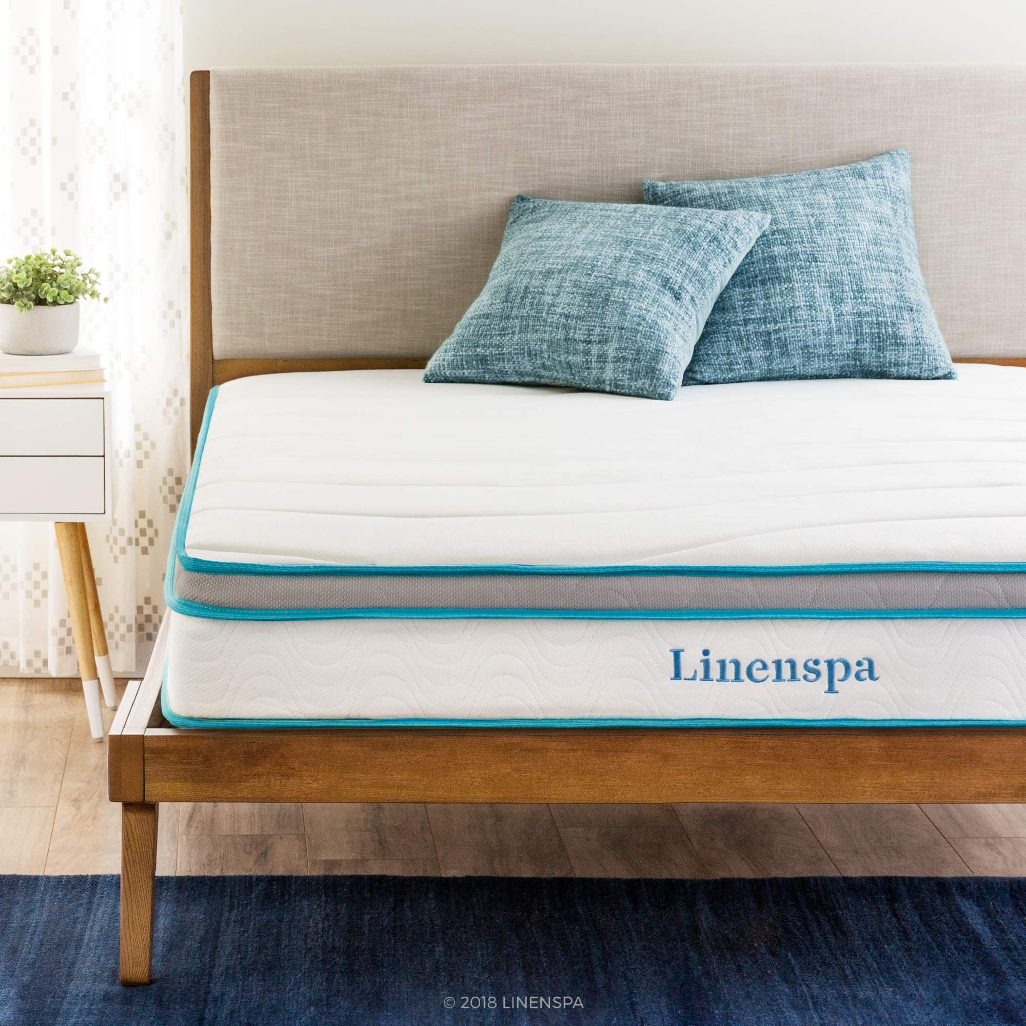 Linenspa 8 Inch Memory Foam And Innerspring Hybrid Mattress Twin Hybrid Mattress Queen Mattress Size Best Mattress