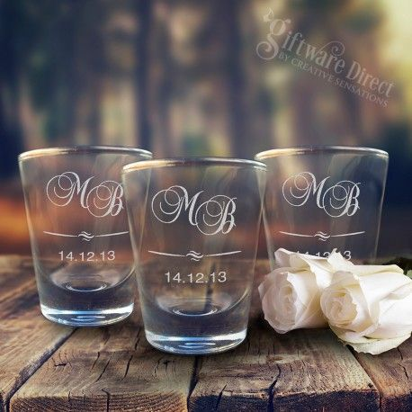 engraved 50ml boston shot glass favours special our wedding 2015