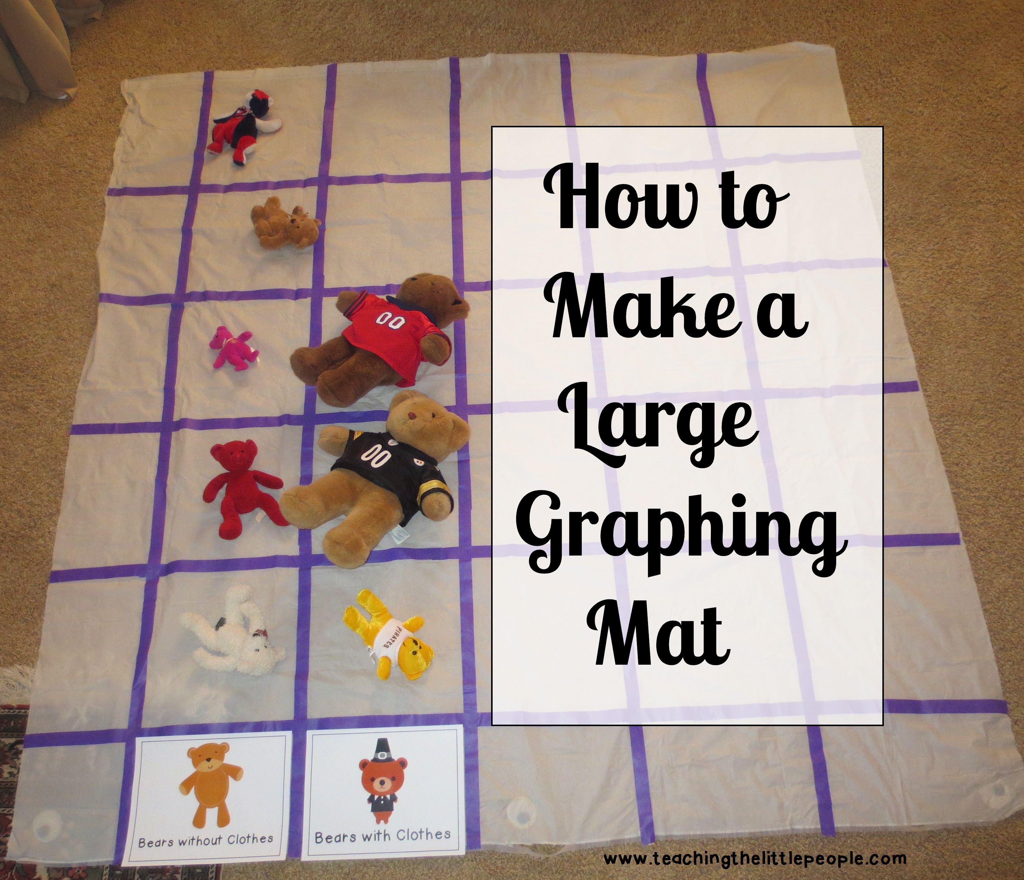 Making A Large Graphing Mat From Teaching The Little People