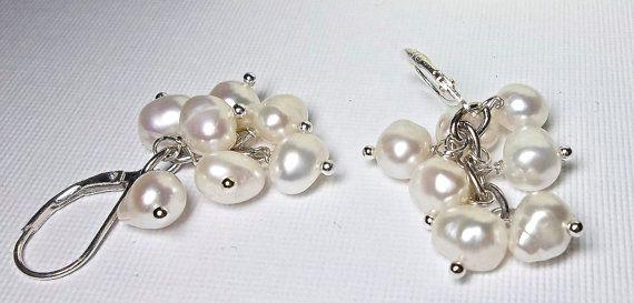 Pearl earrings Freshwater   AAA Pearls  by QueenMeJewelryLLC, $29.99