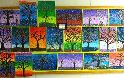 Getting My Art Wings Back Grade 6 Patterned Tree Designs