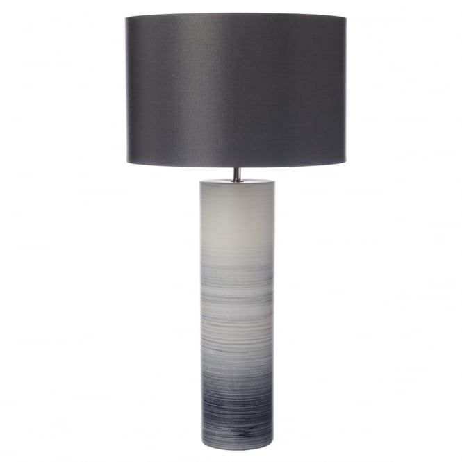 Nazare Matte Black And White Graduated Glaze Table Lamp With Shade