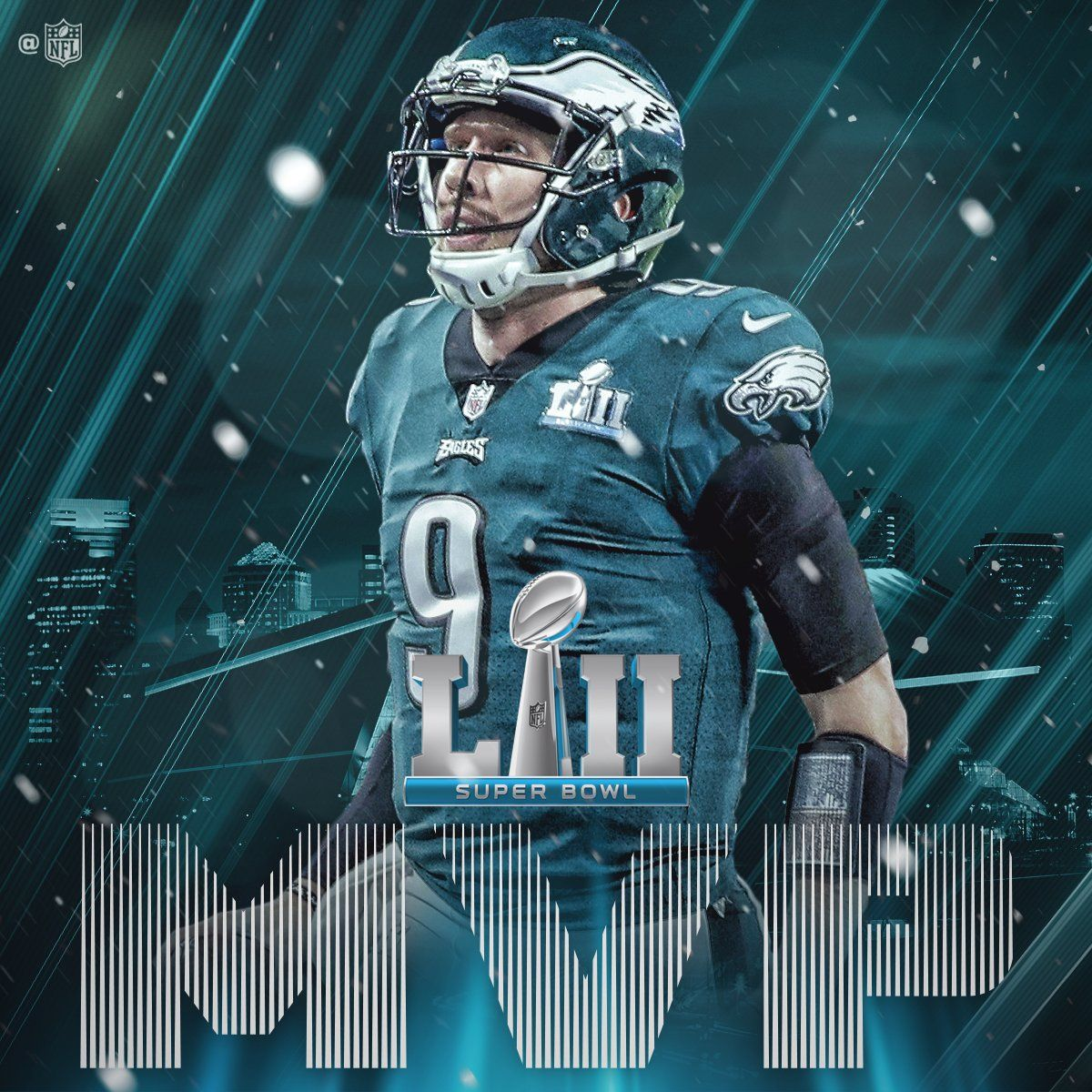 The Nfl Created This Twitter Graphic To Announce Nick Foles Winning Mvp Of Super Bowl Lii Nfl N Philadelphia Eagles Philadelphia Eagles Football Eagles Nfl