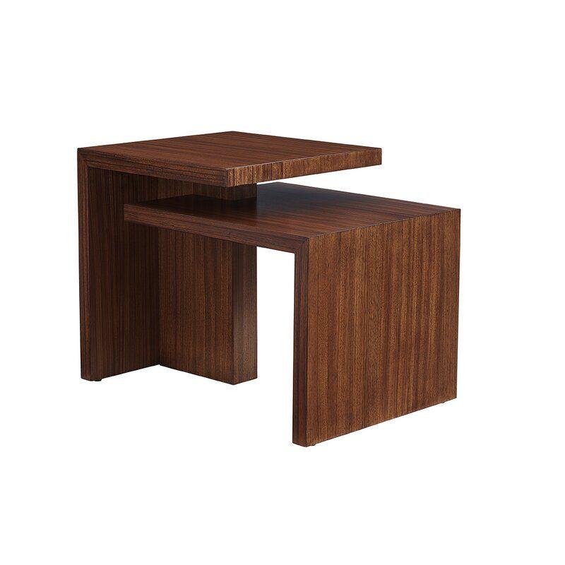 Lexington Kitano Cascade Sled End Table With Storage Perigold In 2020 End Tables End Tables With Storage Pink Home Decor