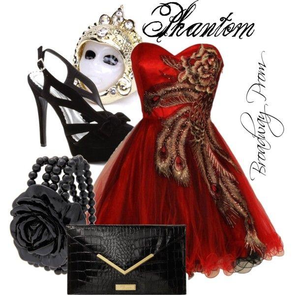 The phantom the phantom of the opera opera polyvore for Phantom of the opera wedding dress