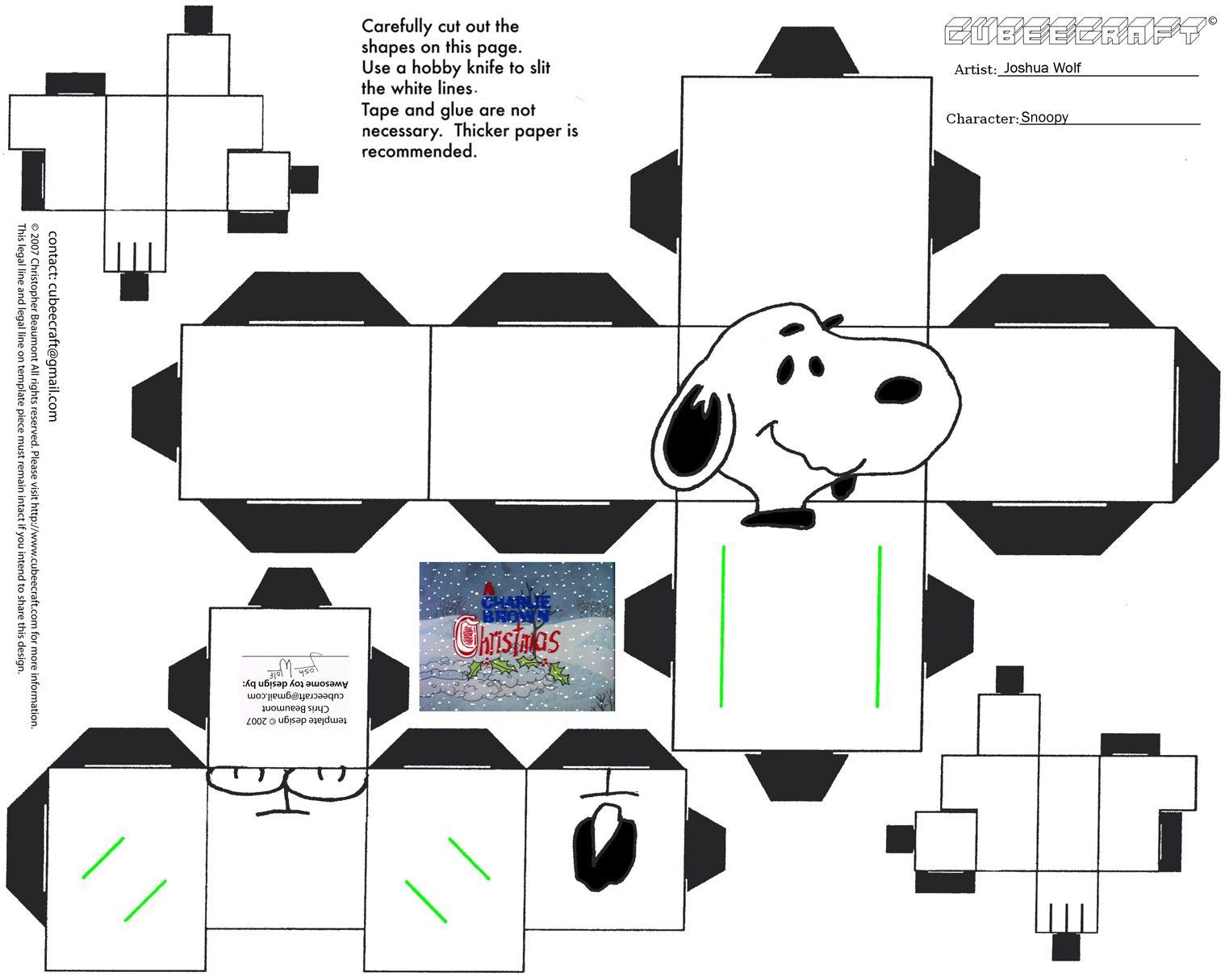 Snoopy cube craft | Peanuts...love them! | Pinterest | Snoopy, Cube ...