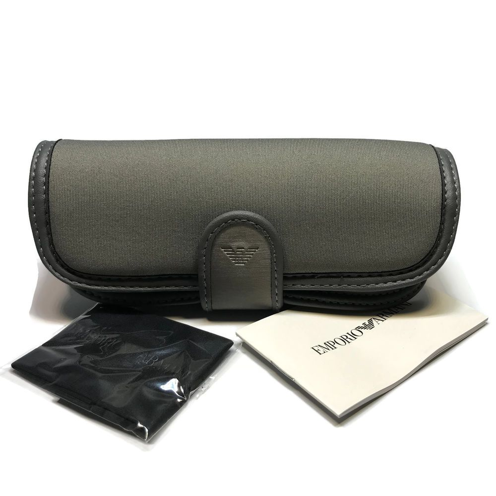 3b2e1ba3ee80 EMPORIO ARMANI GREY SNAP STRAP Eyeglasses Sunglasses Soft Cases with Cloth   EmporioArmani