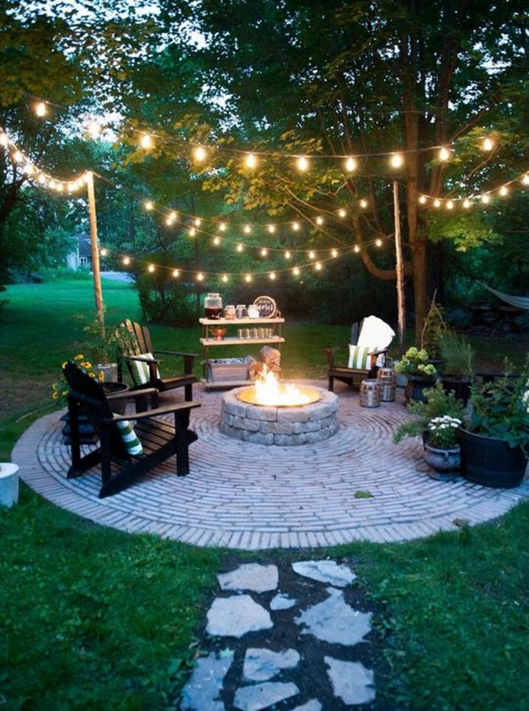 54 Exceptional Outdoor Living Spaces. How To Hang Patio Lights