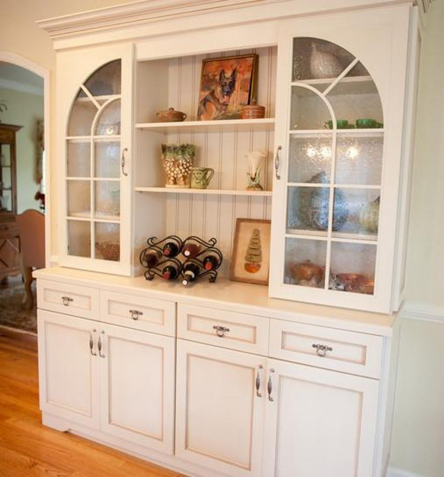 ordinary Kitchen Storage Cabinets With Glass Doors #2: Traditional Kitchen Cabinets With Glass Doors