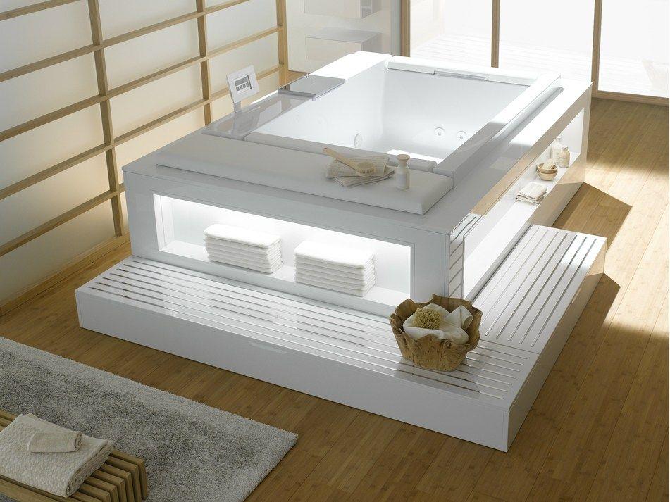 Whirlpool Badewanne Für Chromotherapie Neorest | Rechteckige ... Varianten Der Whirlpool Badewanne
