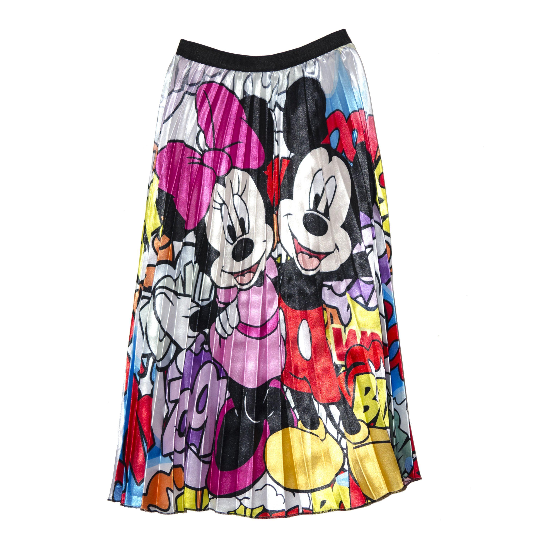 Falda Tableada Minnie Y Mickey Mouse Dibujos Animados Falda Tableada Moda Mickey
