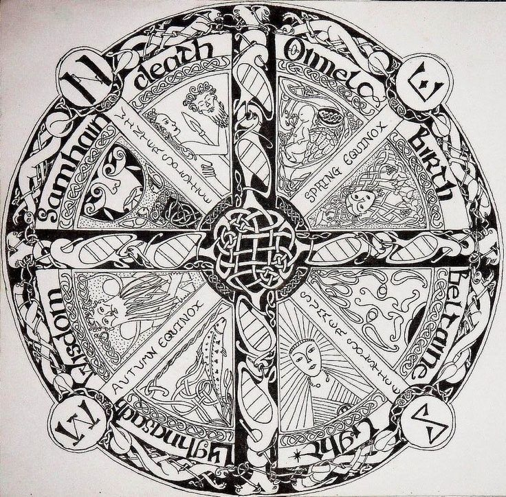 Celtic Calendar Illustrations From Ancient Books Pinterest