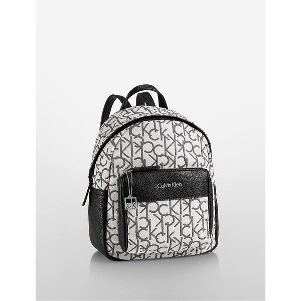 dfaeed132 Calvin Klein Women's Hailey City Backpack (205 SAR) ❤ liked on Polyvore  featuring bags, backpacks, light putty, print bags, calvin klein bags, rucksack  bag ...
