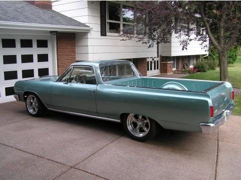 1965 Chevrolet El Camino In Light Blue Green El Camino Classic Cars Trucks Chevrolet El Camino