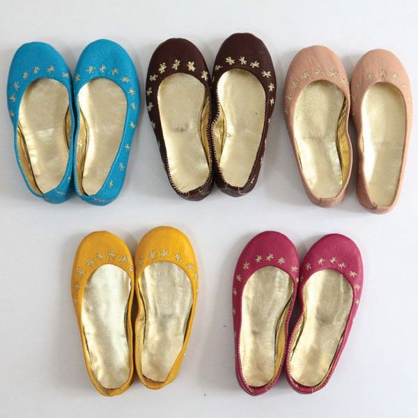 Moon et Miel leather ballerinas available at www.homeandkids.co.uk