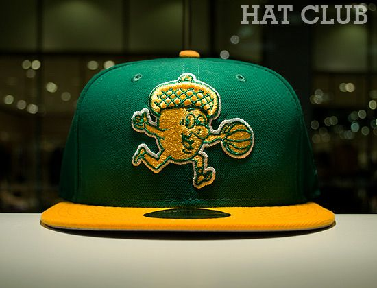 2f8c3ddf5cd Custom Oakland Oaks 59Fifty Fitted Cap By NEW ERA x ABA   HAT CLUB ...