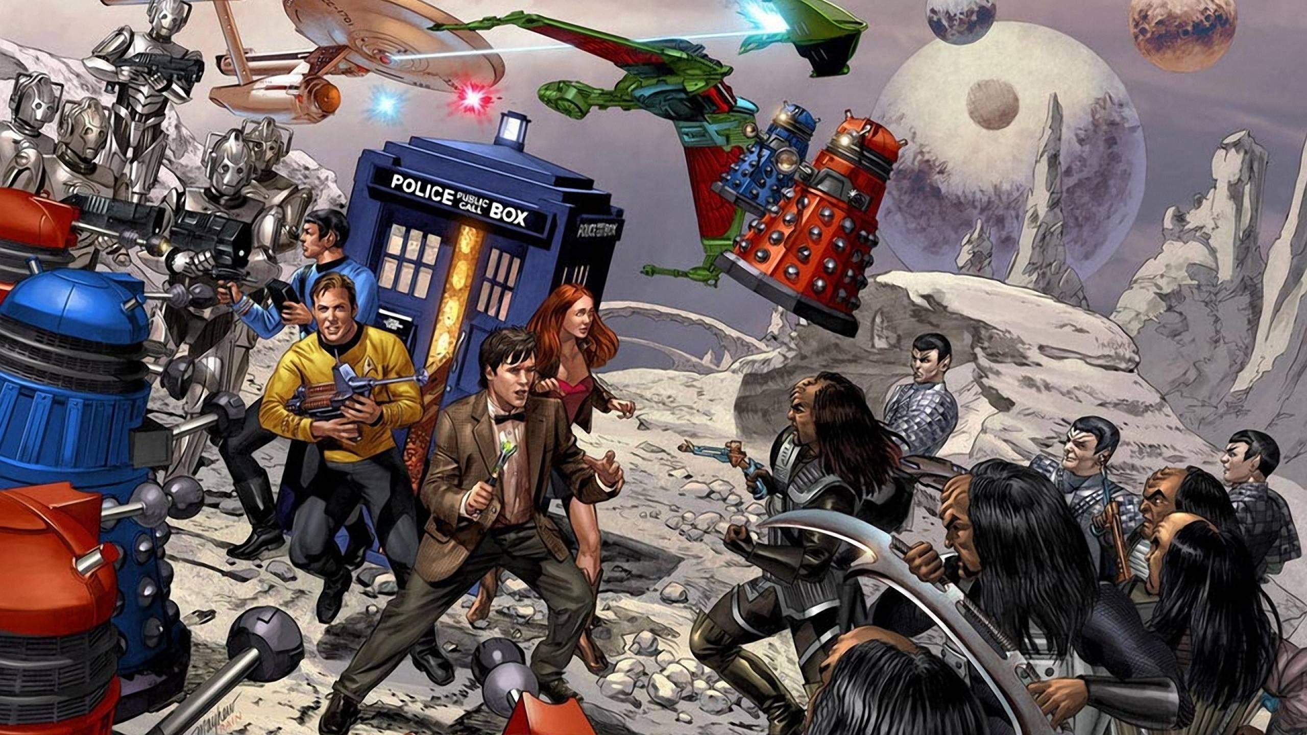 Doctor Who And Star Trek Wallpaper Star Trek Wallpaper Doctor Who Fan Art Star Trek