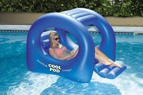 Sunshade Lounge Pool Float Swimming Chair Bed Raft Lake Relax Beach Canopy Shade Swimming Pool Floats Pool Accessories Cool Pool Floats