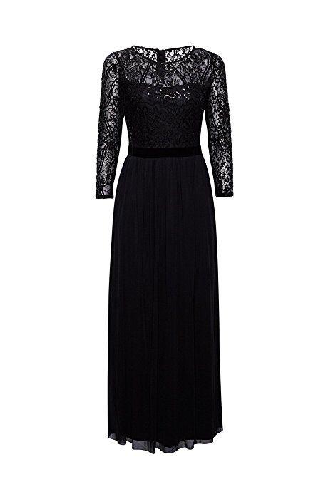 Esprit damen kleid schwarz