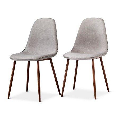porter mid century modern pebble dining chairs set of 2 target. Black Bedroom Furniture Sets. Home Design Ideas